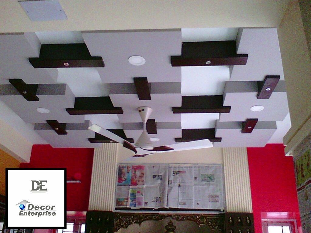 White Brown Box Ceiling