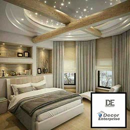 Golden Interior Bedroom