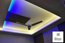 False ceiling with fan